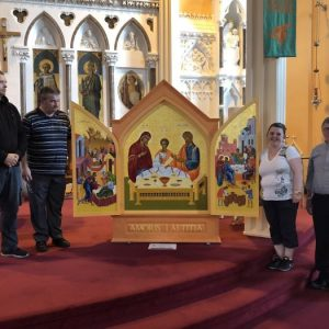 Preparation for visit of Icon of World Meeting of Families