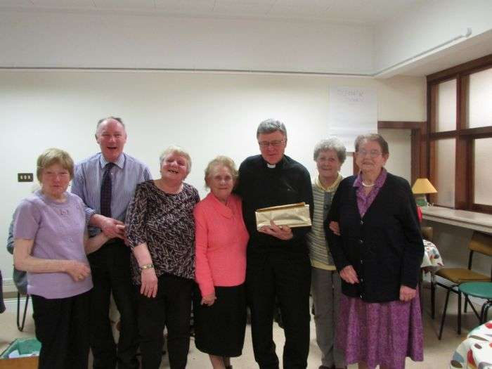 Ennis Old Folks Club presentation to Rev. Martin Shanahan on his upcoming Ordination
