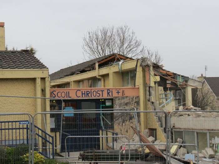 Demolition of Scoil Chriost Rí