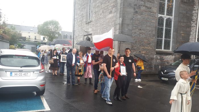 Members of the Polish Community attending the Corpus Christi Procession on Sunday 23rd June 2019