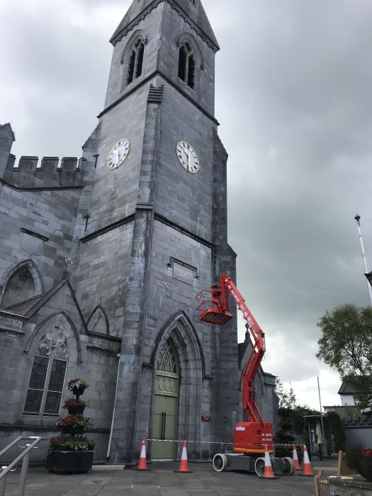 Work has begun on the painting and decorating of the Cathedral. This is made possible by the generosity of parishoners who generously contribute to the upkeep of the parish. Our thanks to all who make this work possible.