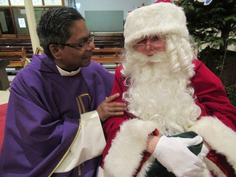 Santa Comes to Mass